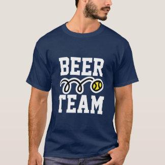 おもしろいな「ビールチーム」テニスのTシャツ Tシャツ