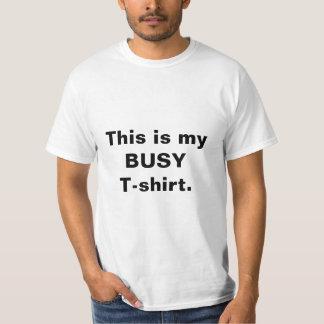 """おもしろいな""""忙しいTシャツ""""の引用文の人のティー Tシャツ"""