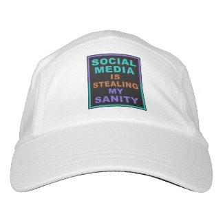 """おもしろいな""""社会的な媒体""""のカスタムな帽子 ヘッドスウェットハット"""