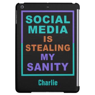 """おもしろいな""""社会的な媒体""""の名前をカスタムする装置ケース iPad AIRケース"""