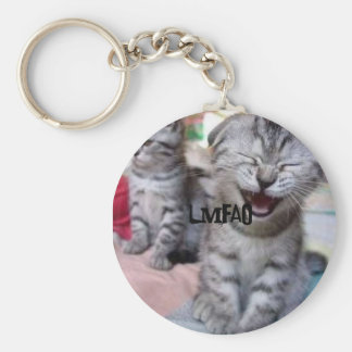 おもしろいな「n」の愛らしい子ネコのキーホルダー- LMFAO!!! キーホルダー