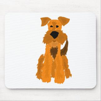 おもしろいなAiredaleテリア犬の芸術 マウスパッド