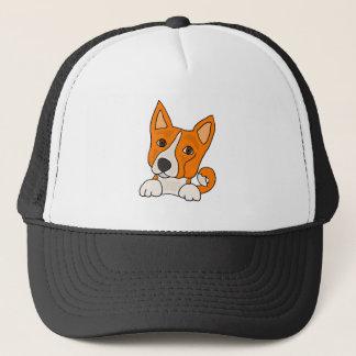 おもしろいなBasenjiの小犬の芸術 キャップ
