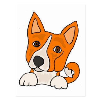 おもしろいなBasenjiの小犬の芸術 ポストカード