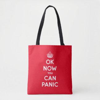 おもしろいなBrexitのパニックは平静を保ちます トートバッグ