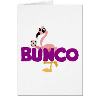 おもしろいなBuncoのサイコロのゲームおよびピンクのフラミンゴ カード