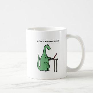 おもしろいなCOBOLプログラマー恐竜 コーヒーマグカップ