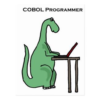 おもしろいなCOBOLプログラマー恐竜 ポストカード
