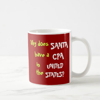 おもしろいなCPA税のクリスマスの冗談米国 コーヒーマグカップ