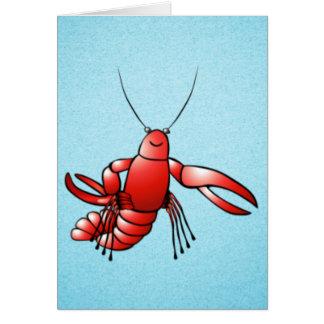 おもしろいなCrawfishのロブスター カード