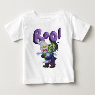 おもしろいなFrankieはかわいい幽霊に恐怖-ブーイング--を与えます ベビーTシャツ
