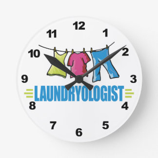 おもしろいなI愛洗濯 ラウンド壁時計