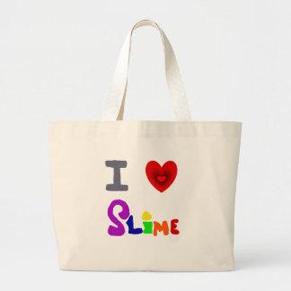おもしろいなI愛粘着物の芸術 ラージトートバッグ