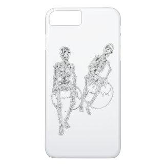おもしろいなiPhoneのおもしろいのギフトを笑わせるスカルの骨組 iPhone 8 Plus/7 Plusケース
