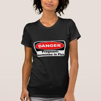 おもしろいなKRWの危険の妊娠のホルモン Tシャツ
