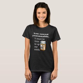 おもしろいなMedsを持ち上げる適当な時間を鳴ります Tシャツ