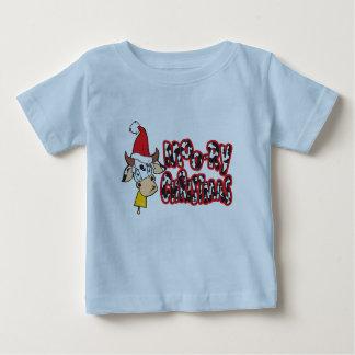 おもしろいなMooryクリスマス牛Moo ryは赤ん坊のTシャツをからかいます ベビーTシャツ