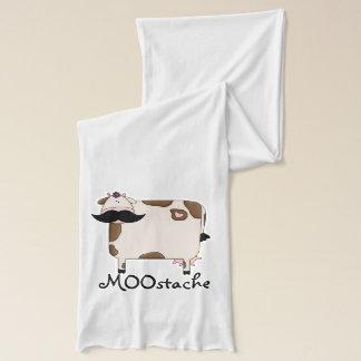 おもしろいなMOOstacheの髭牛 スカーフ