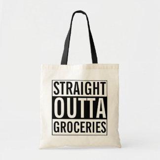 おもしろいなOuttaのまっすぐな食料雑貨 トートバッグ