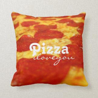 おもしろいなPepperoniのチーズピザ常習者のファースト・フード クッション