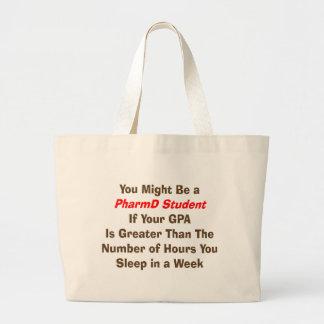 おもしろいなPharmD学生のギフト ラージトートバッグ
