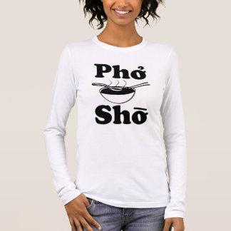 おもしろいなPho Shoの女性のワイシャツ 長袖Tシャツ