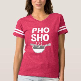 おもしろいなPho Shoの女性のワイシャツ Tシャツ