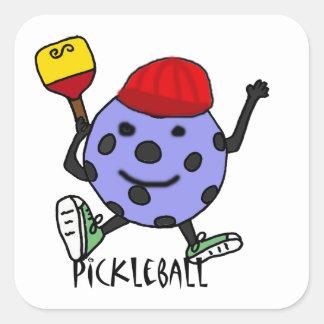 おもしろいなPickleballの球のキャラクターの漫画 スクエアシール