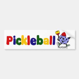 おもしろいなPickleballの球のキャラクターの漫画 バンパーステッカー