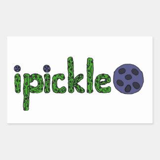 おもしろいなPickleballの芸術の手紙 長方形シール