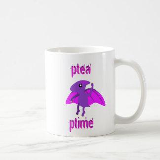 おもしろいなPterodactylの恐竜の茶時間マグ コーヒーマグカップ