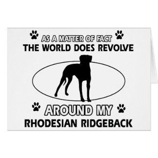 おもしろいなRHODESIAN RIDGEBACKのデザイン カード
