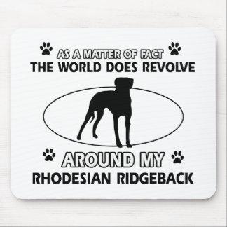 おもしろいなRHODESIAN RIDGEBACKのデザイン マウスパッド