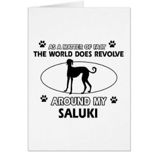 おもしろいなSALUKIのデザイン カード