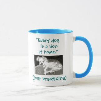 おもしろいなSnarly犬のライオンの一見 マグカップ