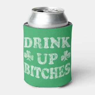 おもしろいなSt patricks dayの「雌犬の上の飲み物 缶クーラー