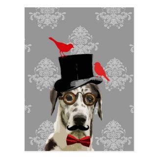 おもしろいなsteampunk犬 ポストカード