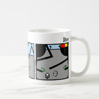 おもしろいなStickmanのサイコロのマグ コーヒーマグカップ
