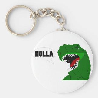 おもしろいなTレックスの恐竜の叫び声のデザイン キーホルダー