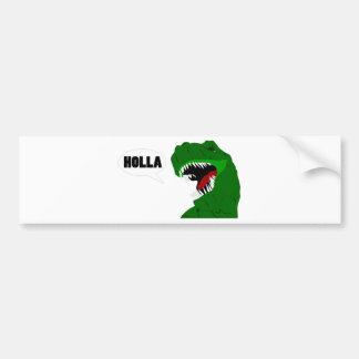 おもしろいなTレックスの恐竜の叫び声のデザイン バンパーステッカー
