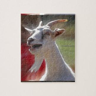 おもしろいなTallkingのヤギの写真 ジグソーパズル
