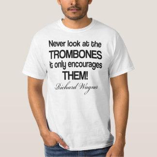 おもしろいなWagnerの引用文のトロンボーン Tシャツ
