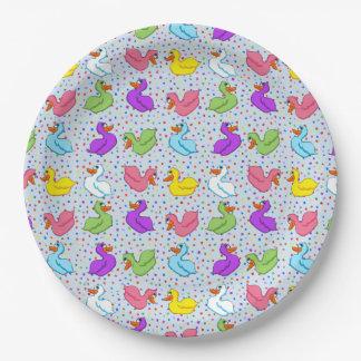 おもしろいのアヒルの紙皿(旗無し) ペーパープレート