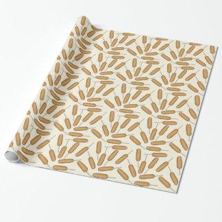おもしろいのアメリカンドッグパターン包装紙 包装紙
