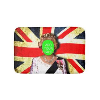 おもしろいのカスタムでグランジな/パンクのスタイルの女王のポートレート… バスマット