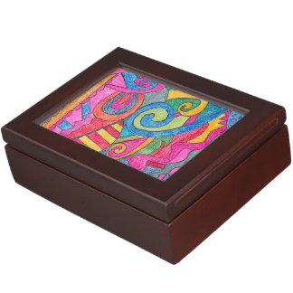 おもしろいのカラフルなデザインの記念品箱 ジュエリーボックス