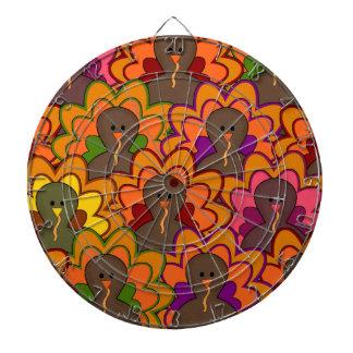 おもしろいのカラフルな感謝祭の七面鳥 ダーツボード