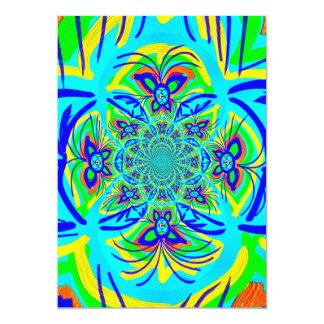 おもしろいのカラフルな蝶花の抽象芸術のフラクタルの芸術 カード