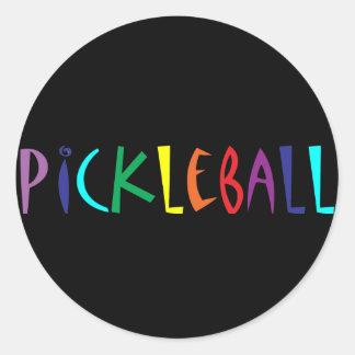 おもしろいのカラフルなPickleballの手紙デザイン ラウンドシール