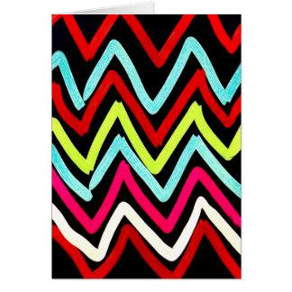 おもしろいのカラフルのストライプのな色彩の鮮やかなシェブロンの種族のジグザグ形 カード